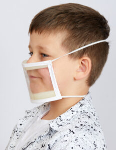 Transparent PPE mask small
